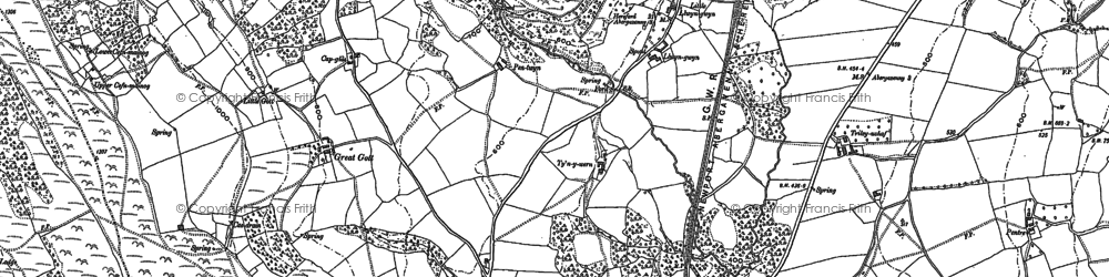Old map of Allt in 1899
