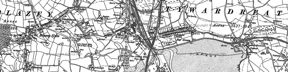 Old map of Par in 1906