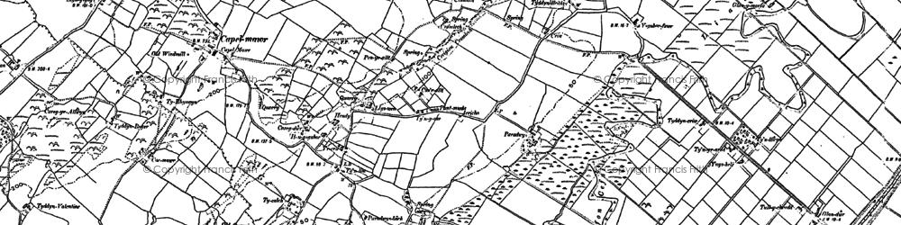 Old map of Ysgubor Fawr in 1888