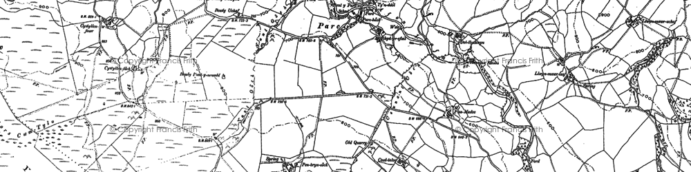 Old map of Afon Dylo in 1886