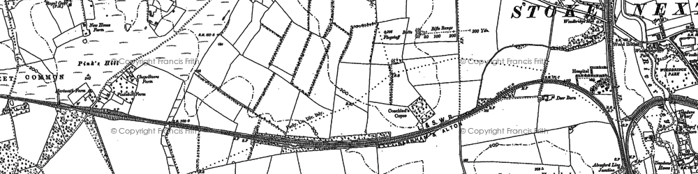 Old map of Wildfield Copse in 1895