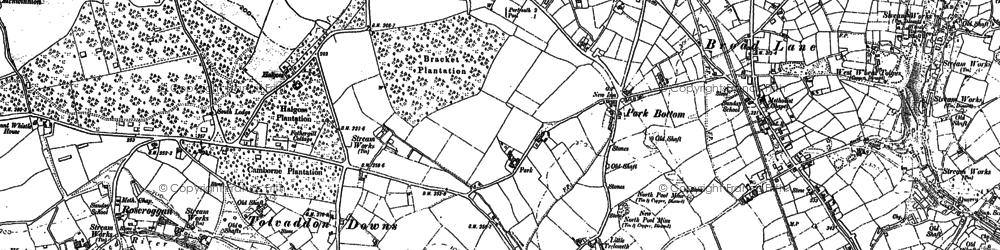 Old map of Park Bottom in 1878