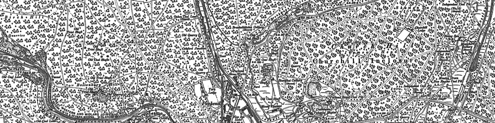Old map of Parkend in 1878