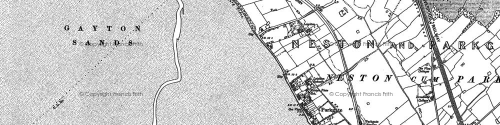Old map of Parkgate in 1898