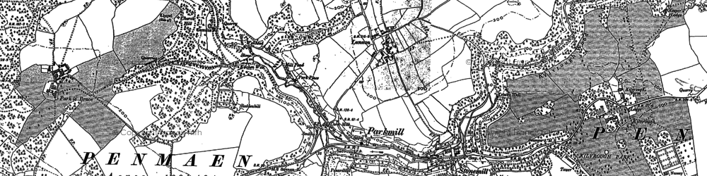 Old map of Parkmill in 1896