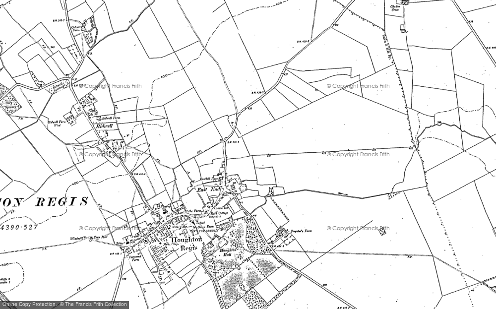 Old Map of Parkside, 1881 - 1900 in 1881