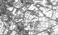 Old Map of Parr, 1892