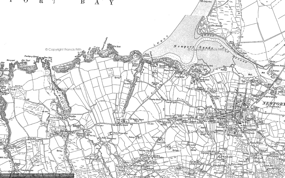 Old Map of Historic Map covering Aber Step in 1906