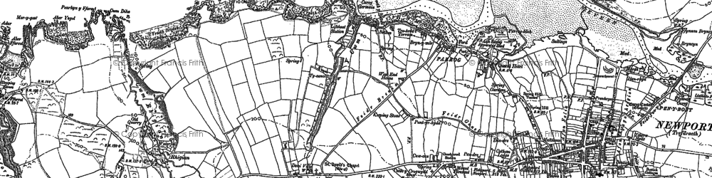 Old map of Aber Rhigian in 1906