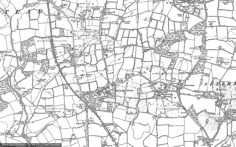 Old Map of Partridge Green, 1896 in 1896
