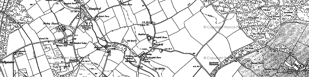 Old map of Linchborough Park in 1909