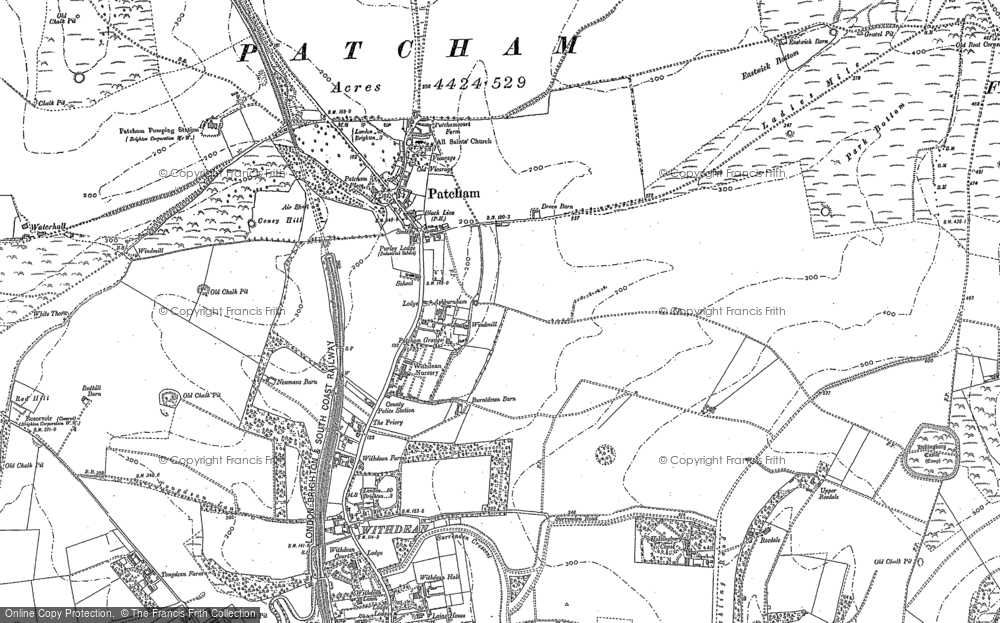 Old Map of Patcham, 1897 - 1909 in 1897