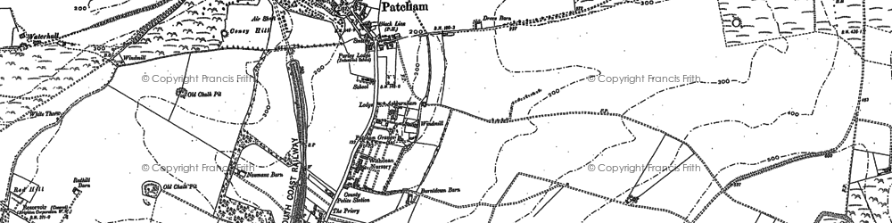 Old map of Patcham in 1897
