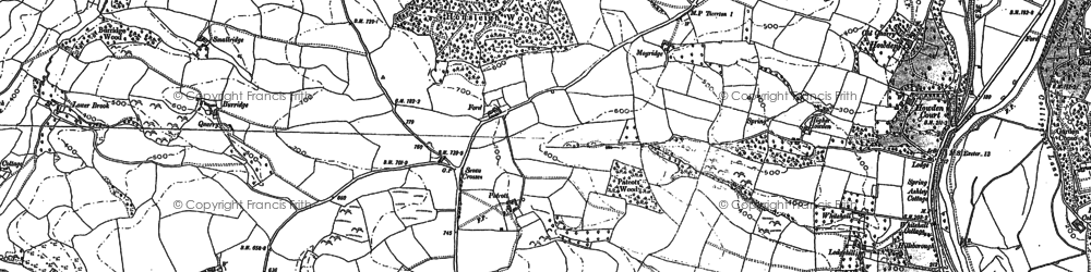 Old map of Wormsland in 1886