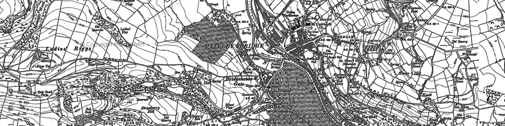 Old map of Pateley Bridge in 1907