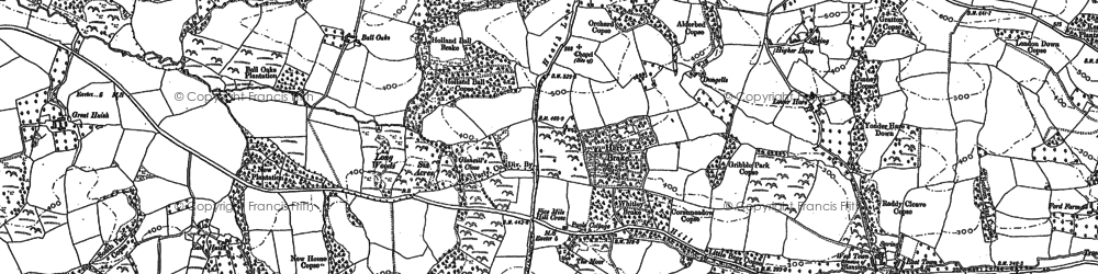 Old map of Woodlands in 1886