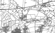 Old Map of Patney, 1899
