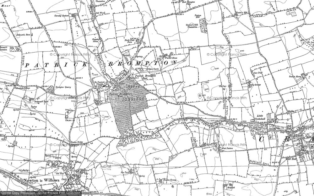 Old Map of Historic Map covering Abour Hill in 1891