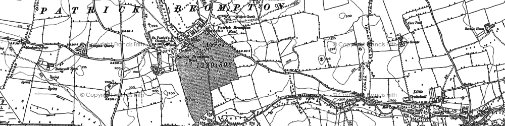 Old map of Patrick Brompton in 1891