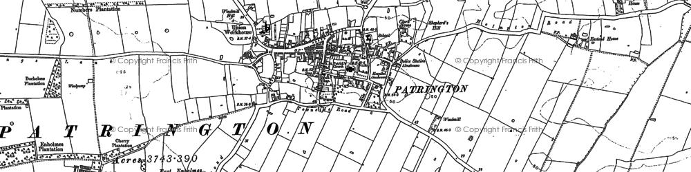 Old map of Patrington in 1889