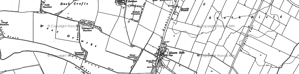 Old map of Winestead Grange in 1888