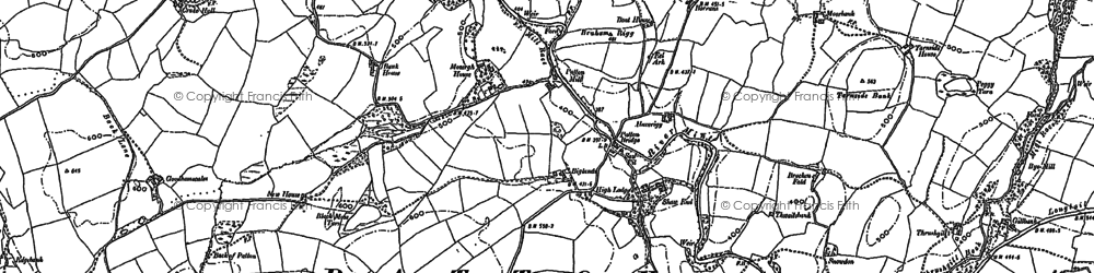 Old map of Whinfell Beacon in 1897