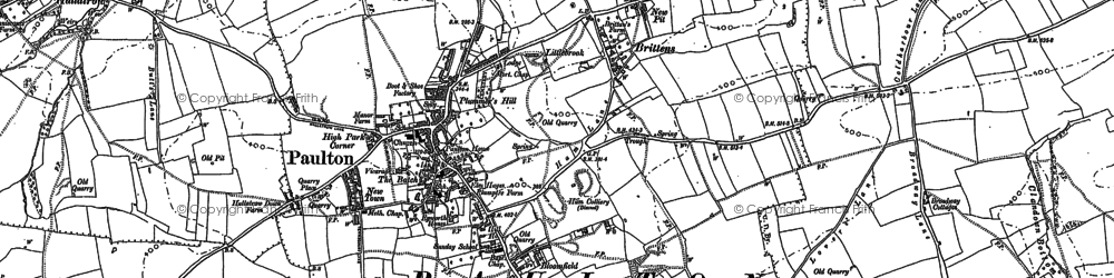 Old map of Winterfield in 1884