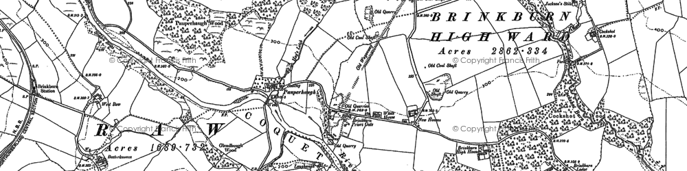 Old map of Woodhead in 1896
