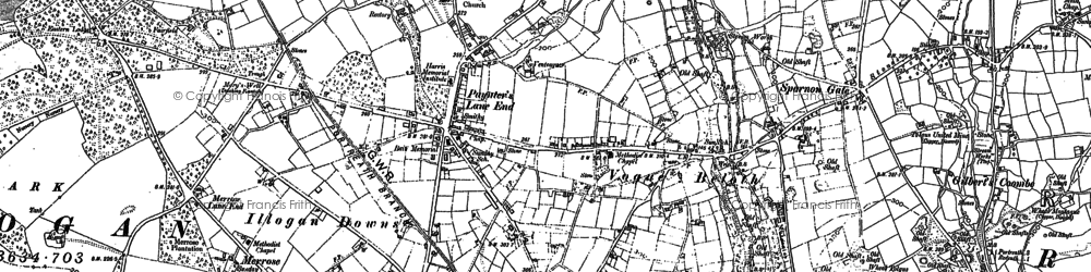 Old map of Paynter's Lane End in 1878