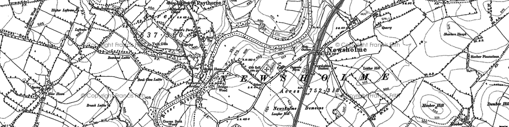 Old map of Windy Pike in 1893