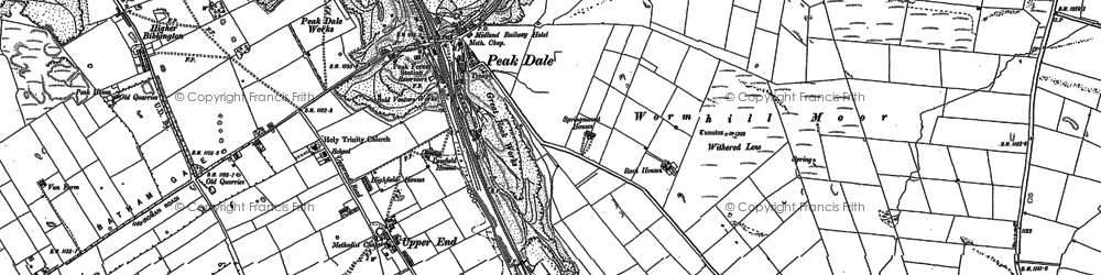 Old map of Peak Dale in 1879