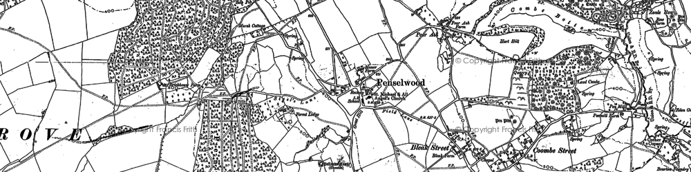Old map of Ballands Castle in 1902