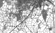 Old Map of Pear Tree, 1882 - 1899