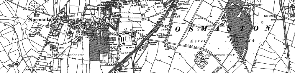 Old map of Pear Tree in 1882