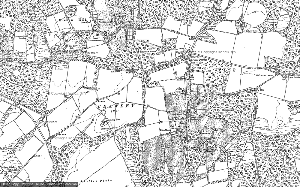 Old Map of Pease Pottage, 1895 in 1895