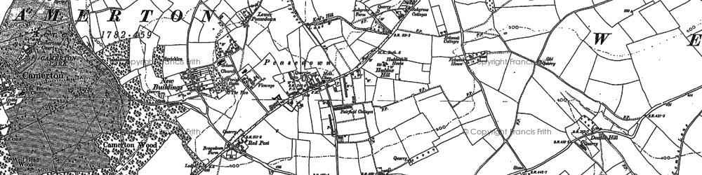 Old map of Ashgrove in 1884