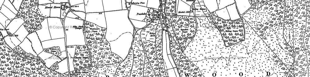 Old map of Winterfold Heath in 1895