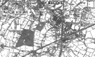 Old Map of Peasley Cross, 1891 - 1892