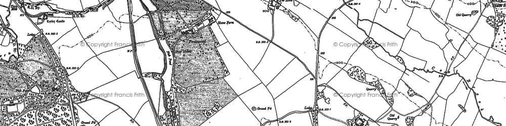 Old map of Peatswood in 1900