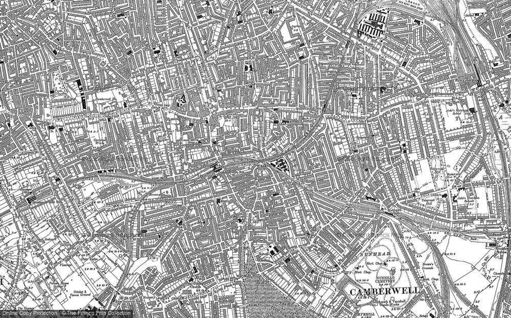 Map of Peckham, 1894