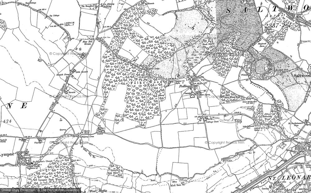 Old Map of Pedlinge, 1906 in 1906