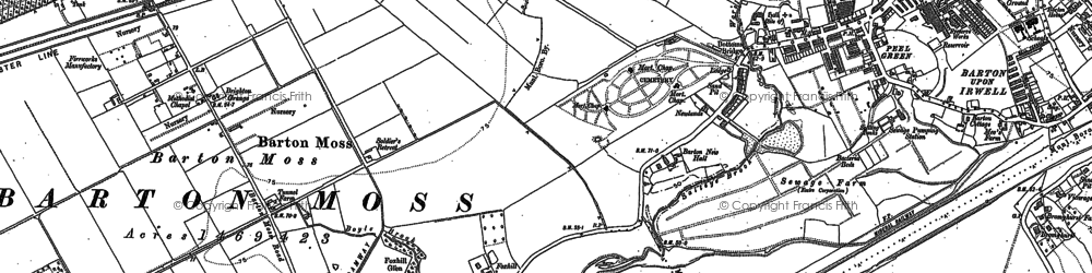 Old map of Peel Green in 1894
