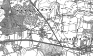 Old Map of Peene, 1906
