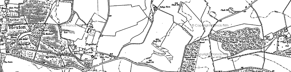 Old map of Tingley Wood in 1899