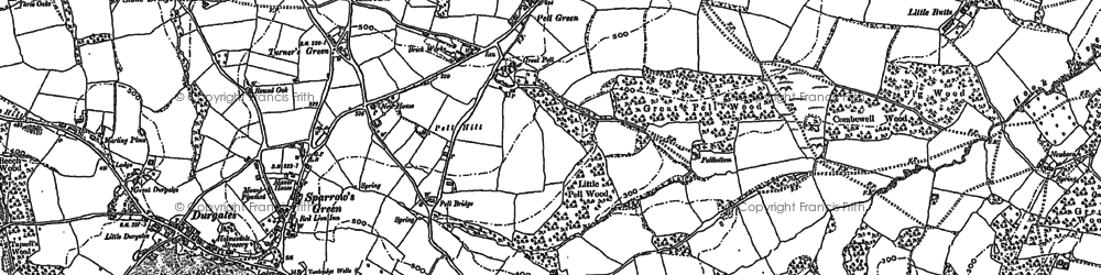 Old map of Pell Green in 1908