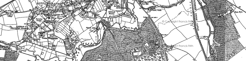 Old map of Pell Wall in 1879