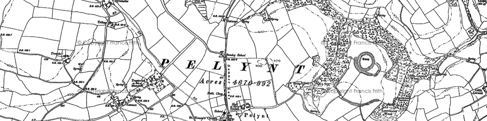 Old map of Bake Rings in 1881-1905