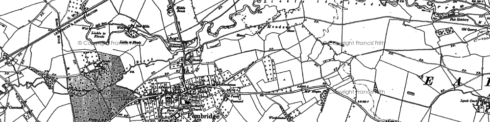 Old map of Pembridge in 1885
