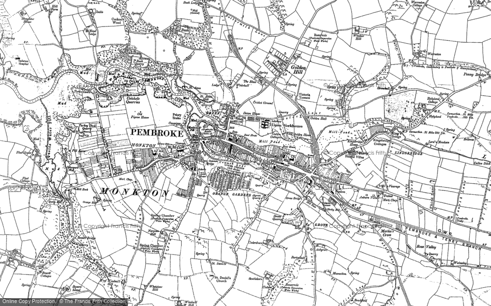 Old Map of Pembroke, 1906 - 1948 in 1906