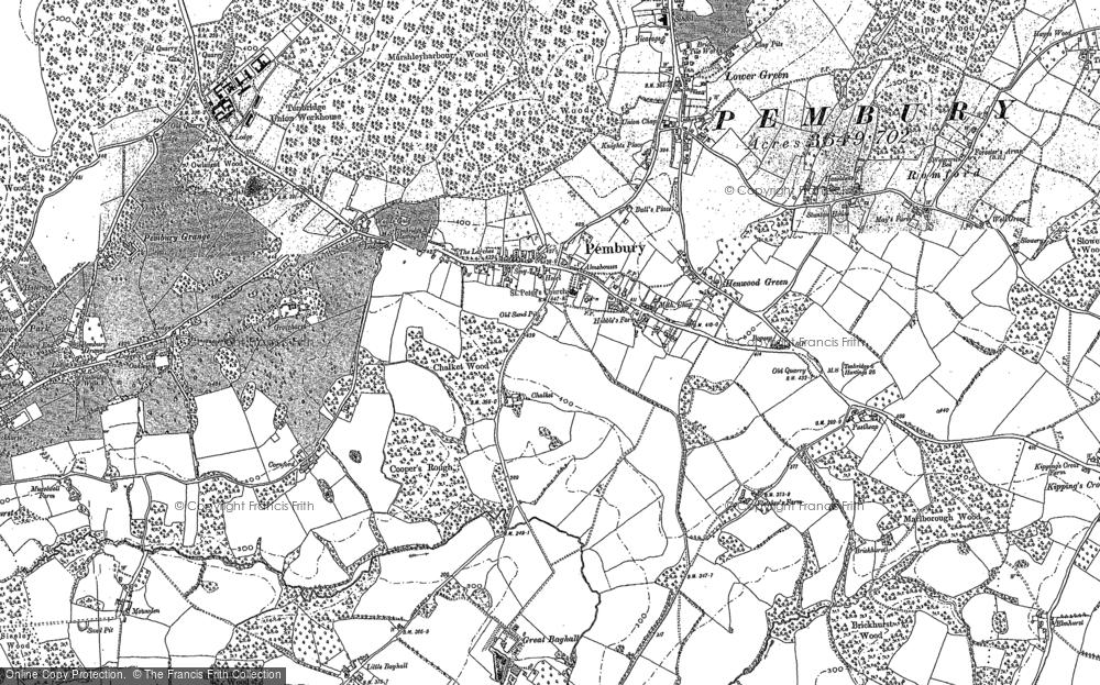 Old Map of Pembury, 1895 in 1895